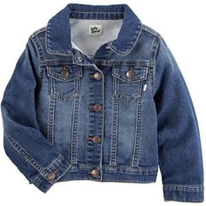 Toddler Girls' Super Soft Knit Denim Jacket